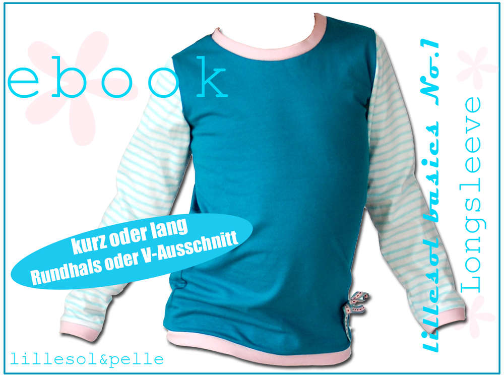 Ebook / Schnittmuster lillesol basic No.1 Longsleeve