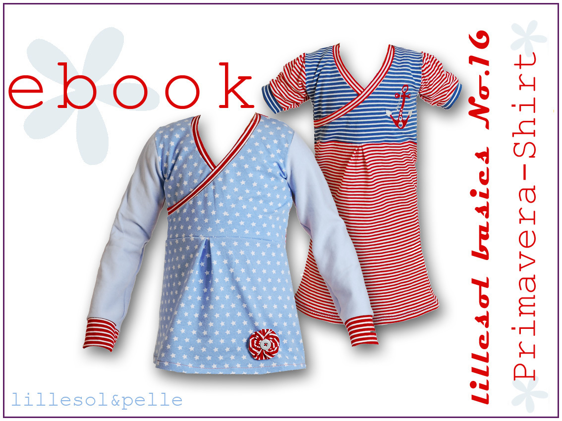 Ebook / Schnittmuster lillesol basic No.16 Primavera-Shirt