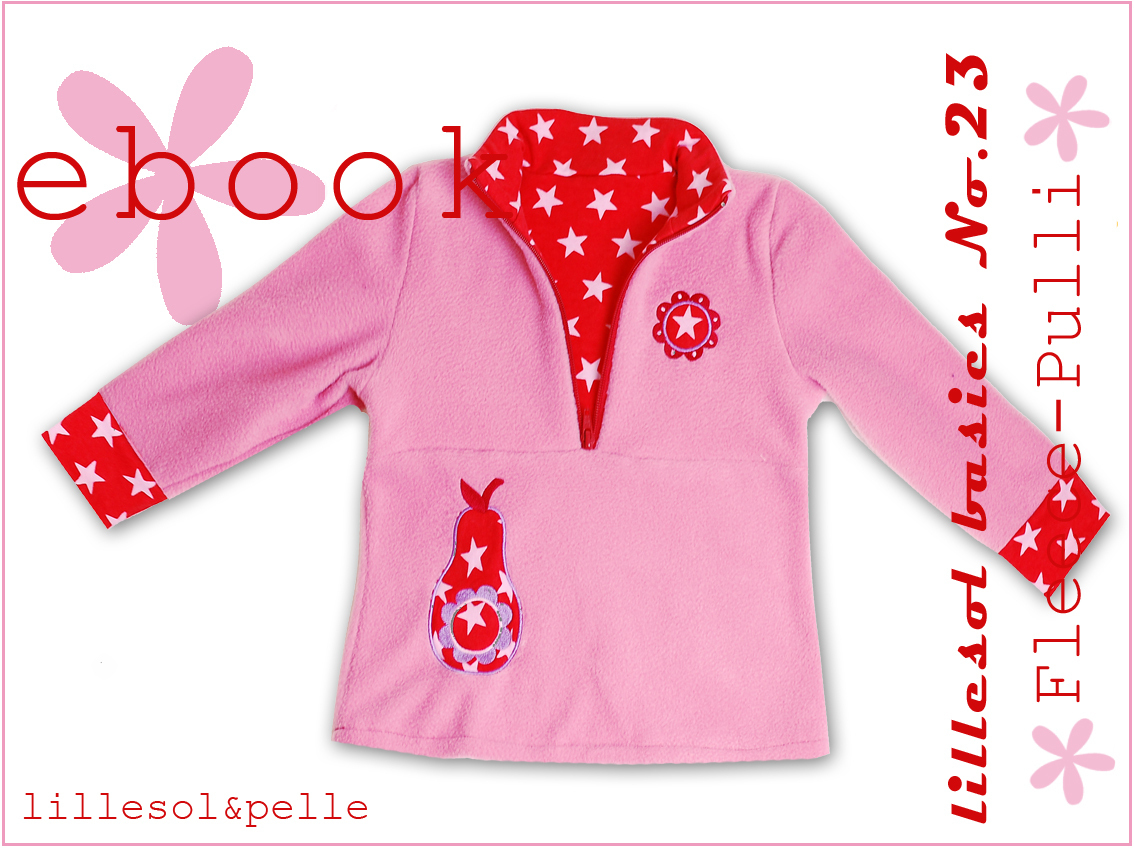 Ebook / Schnittmuster lillesol basic No.23 Fleece-Pulli