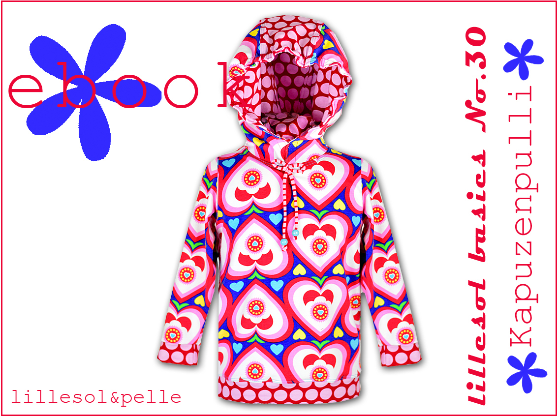 Ebook / Schnittmuster lillesol basic No.30 Kapuzenpulli