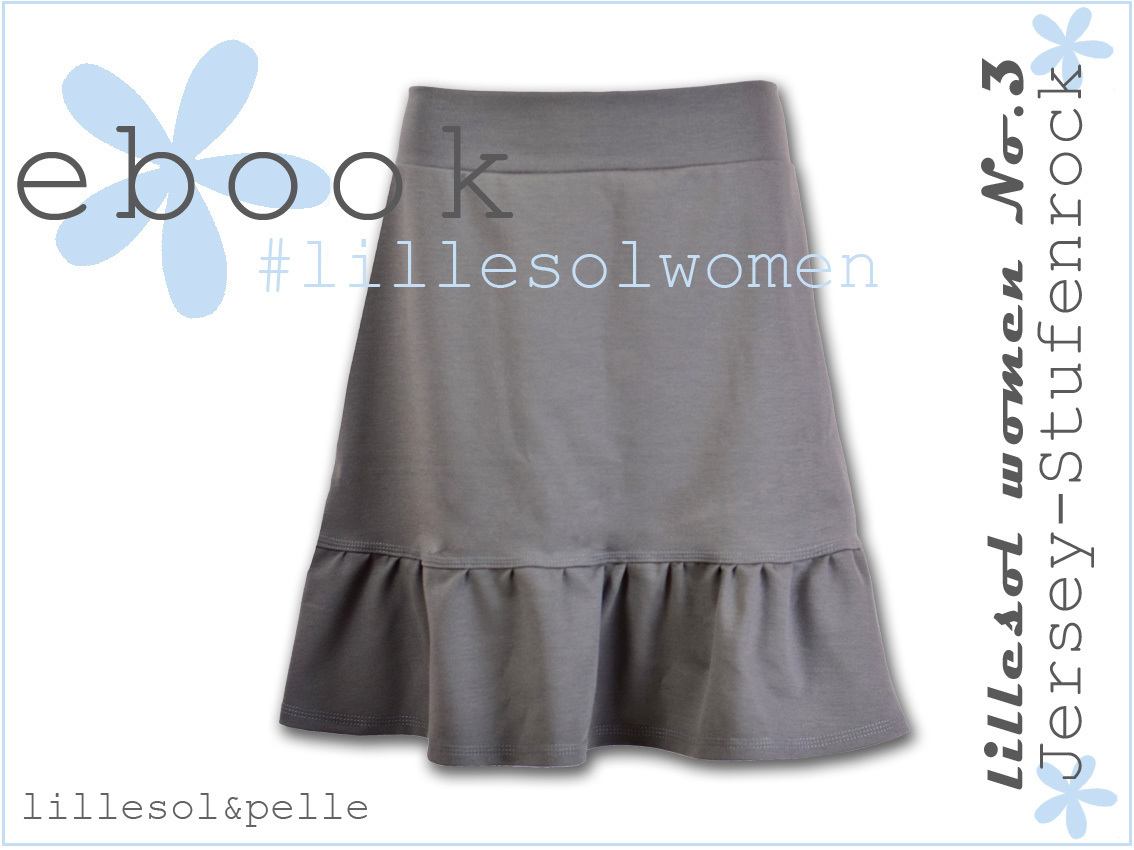 Ebook / Schnittmuster lillesol women No.3 Jersey-Stufenrock