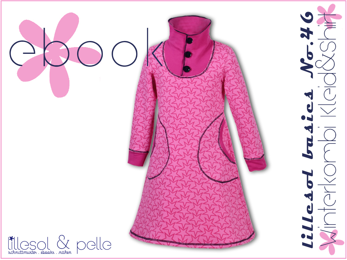 Ebook / Schnittmuster lillesol basics No.46 Winterkombi Kleid & Shirt