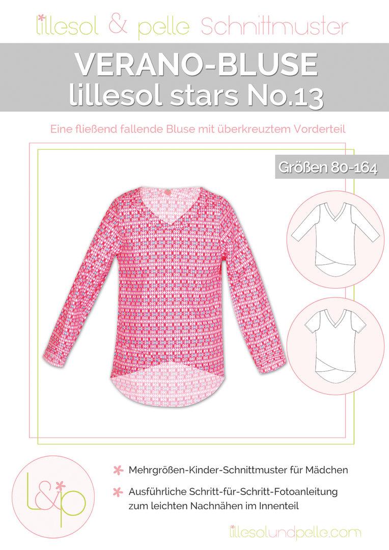 Papierschnittmuster lillesol stars No.13 Verano-Bluse - lillesol ...