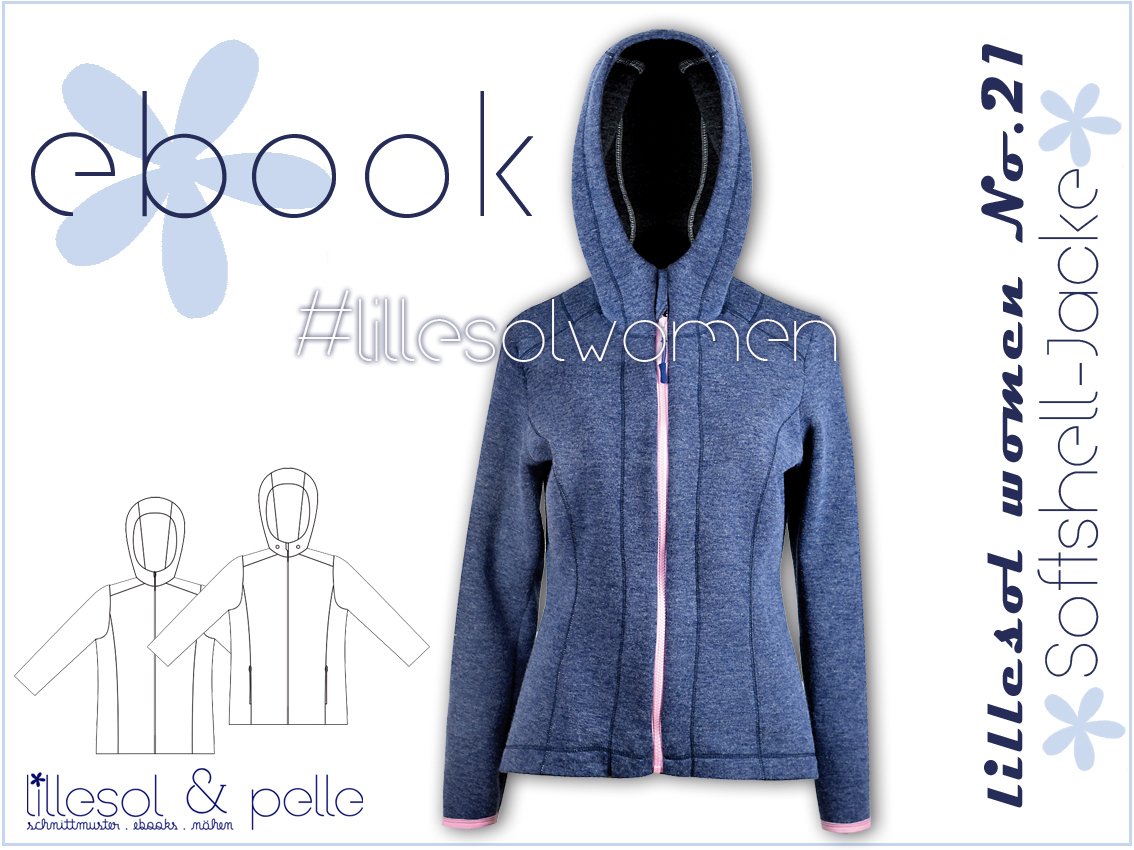 Ebook / Schnittmuster lillesol women No.21 Softshelljacke