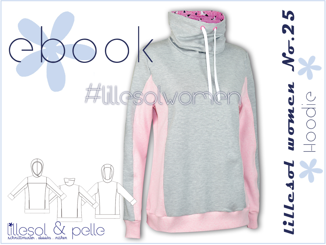 Ebook / Schnittmuster lillesol women No.25 Hoodie