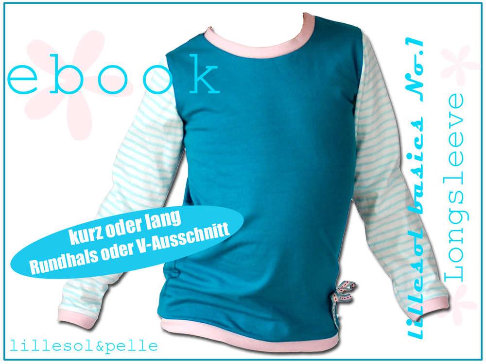 Schnittmuster Ebook Longsleeve Shirt für Kinder, Jungs, Mädchen