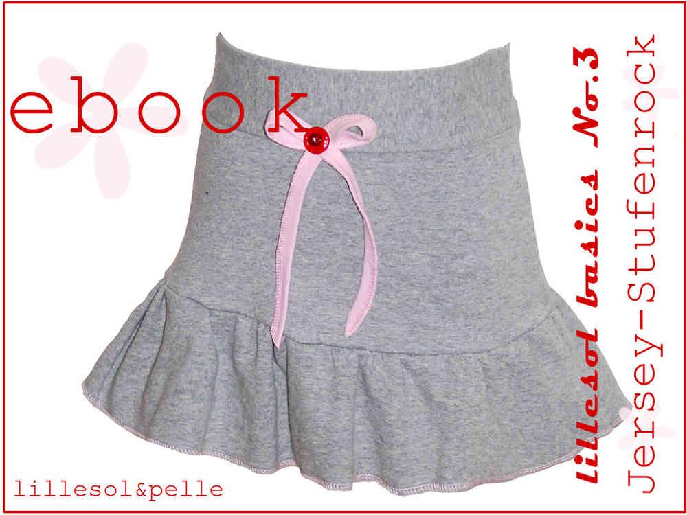 Ebook / Schnittmuster lillesol basic No.3 Jersey-Stufenrock ...