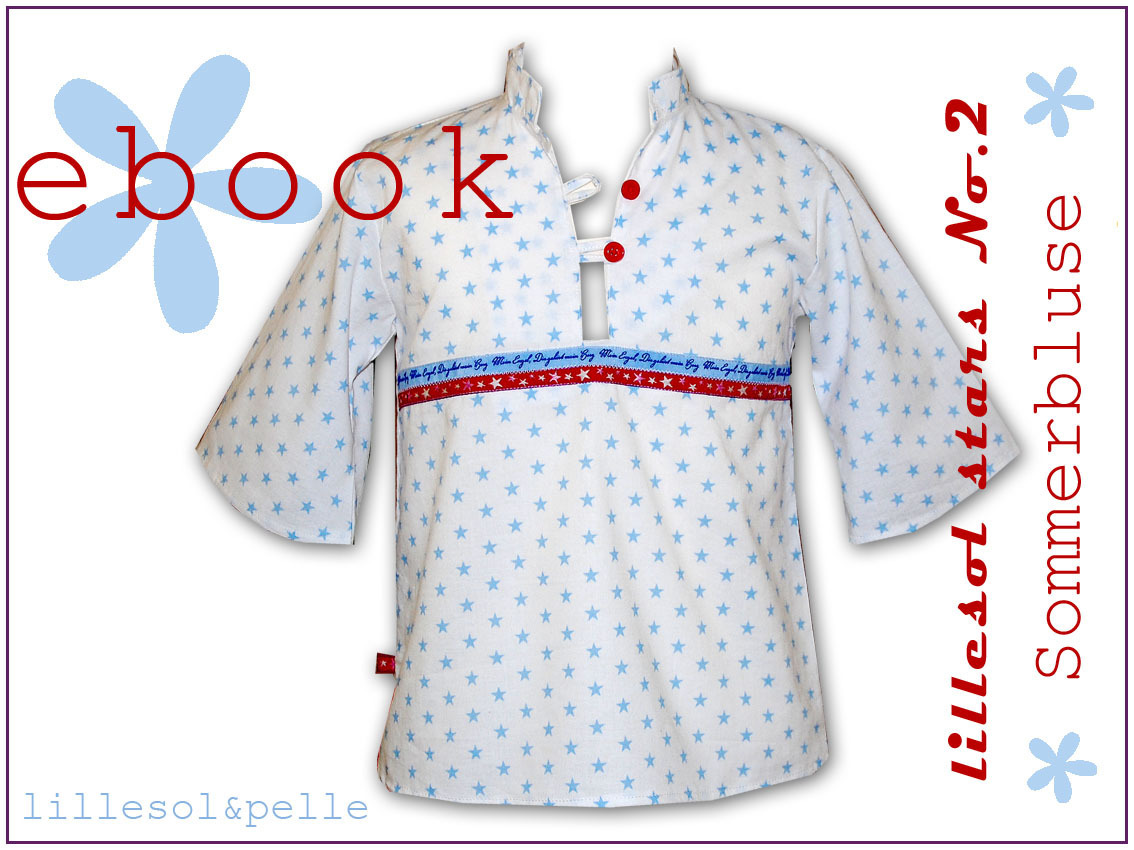 Ebook / Schnittmuster lillesol stars No.2 Sommerbluse