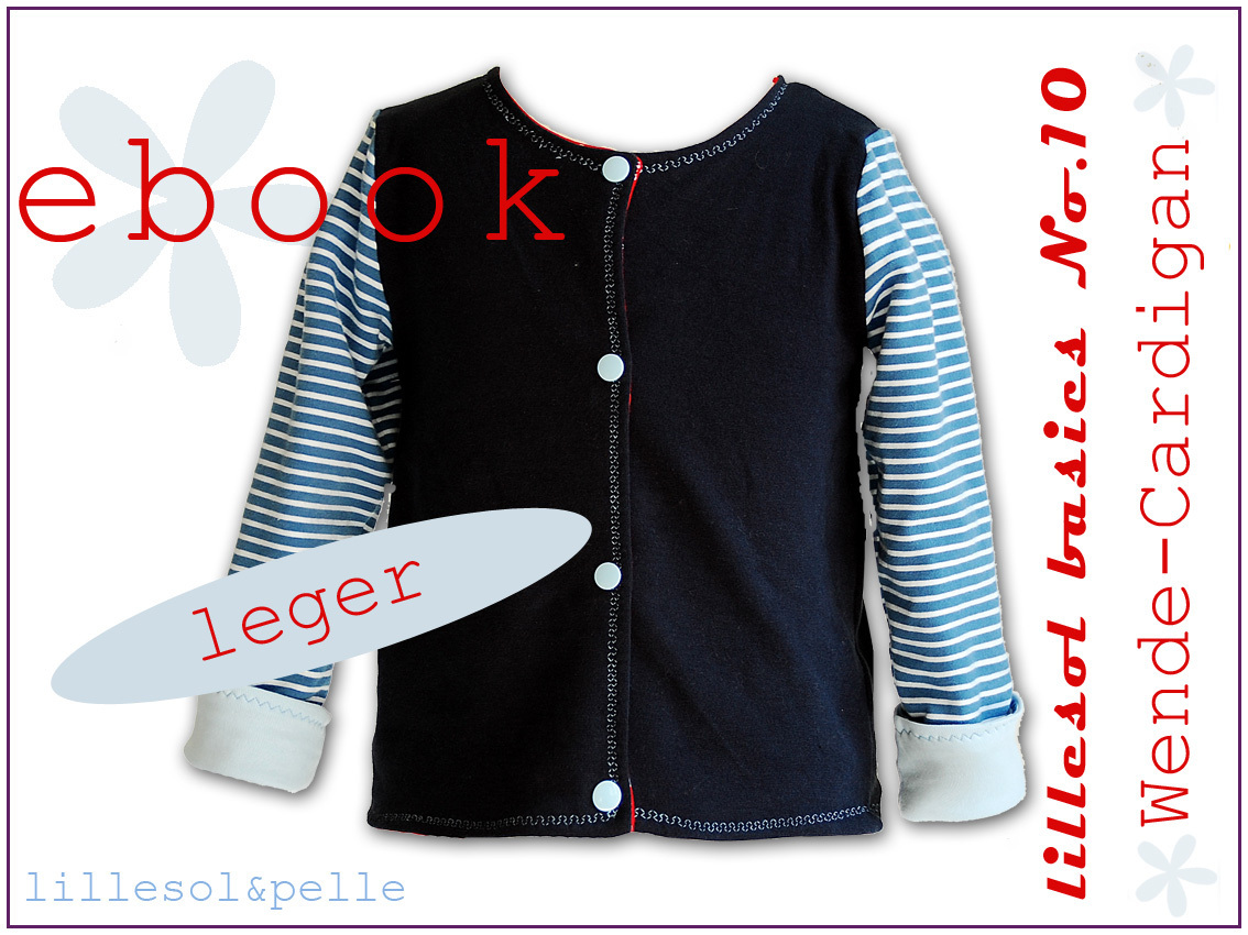Ebook / Schnittmuster lillesol basic No.10 Wende-Cardigan leger