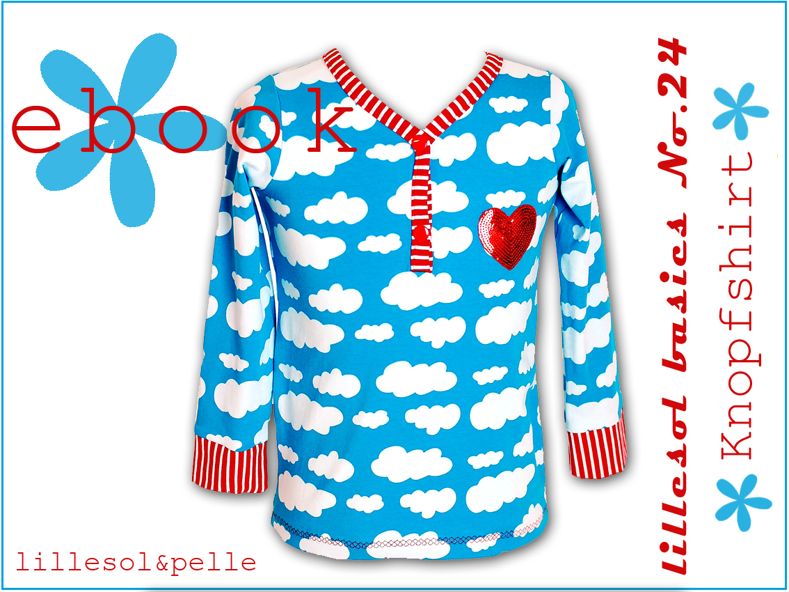 Ebook / Schnittmuster lillesol basic No.24 Knopfshirt