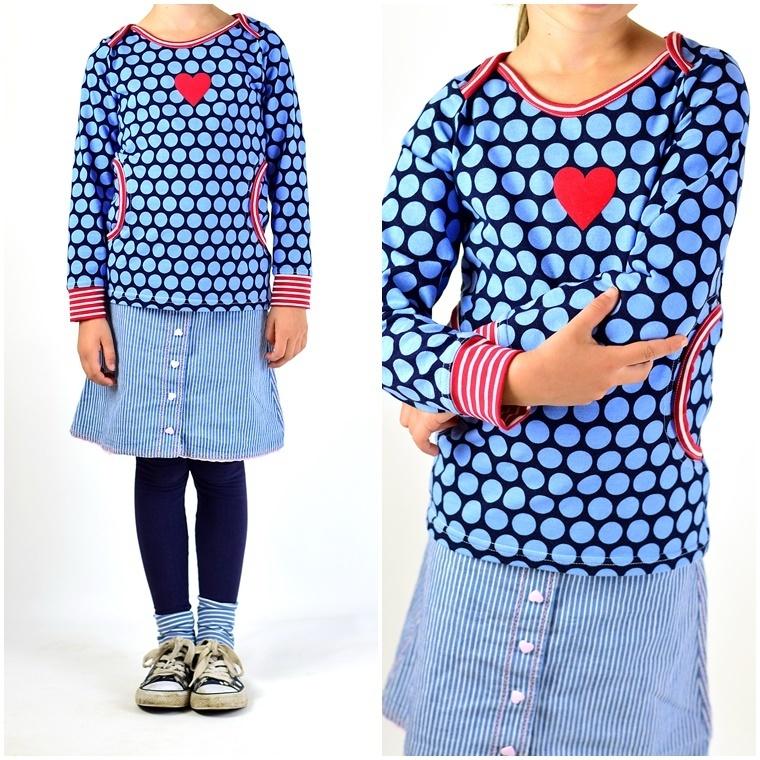 Ebook / Schnittmuster lillesol basics No.34 Shirt mit amerikanischem ...
