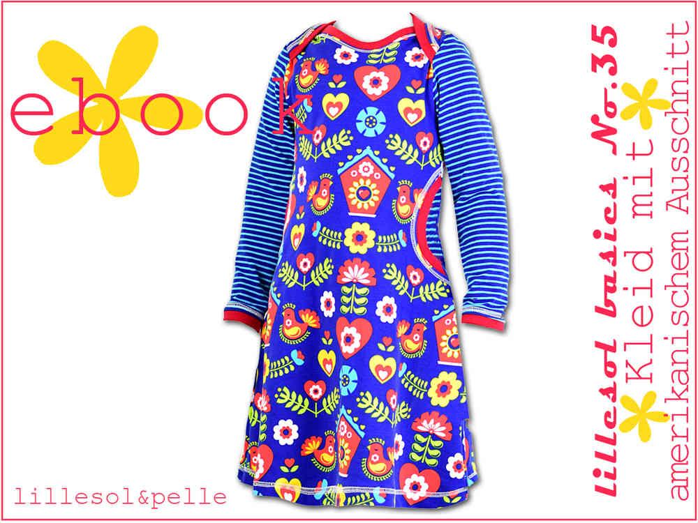 Ebook / Schnittmuster lillesol basics No.35 Kleid mit amerikanischem ...
