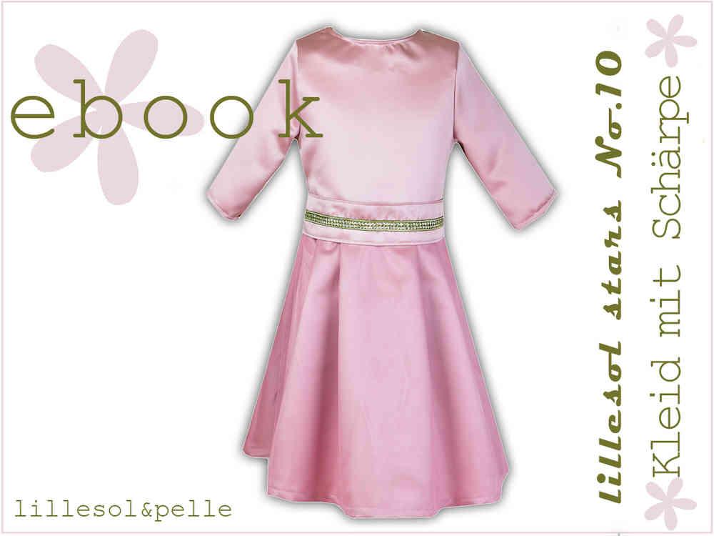 Ebook / Schnittmuster lillesol stars No.10 Kleid mit Schärpe ...