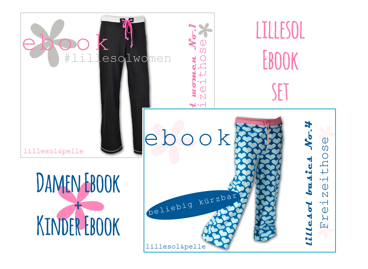 lillesol ebook set basic No.4 und women No.1  *mit Video-Nähanleitung*