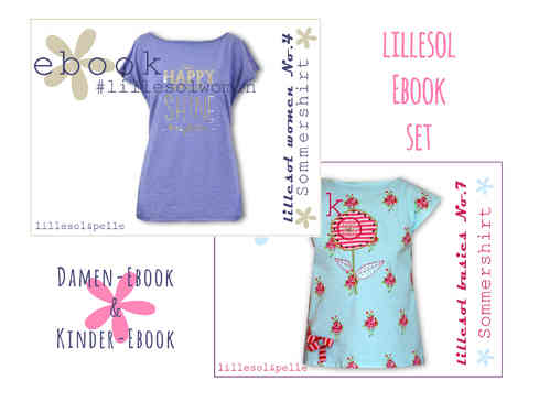 lillesol ebook set basics No.7 und women No.4 *mit Video-Nähanleitung*