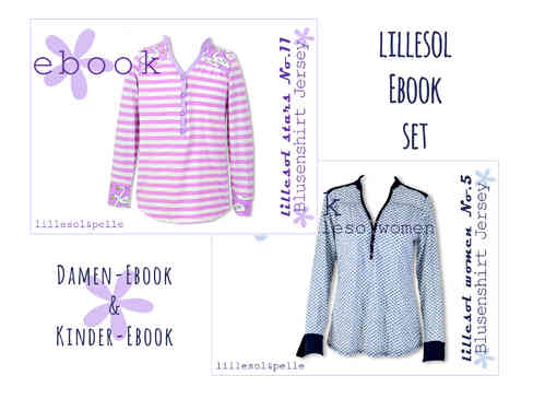 lillesol ebook set stars No.11 und women No.5 *mit Video-Nähanleitung*