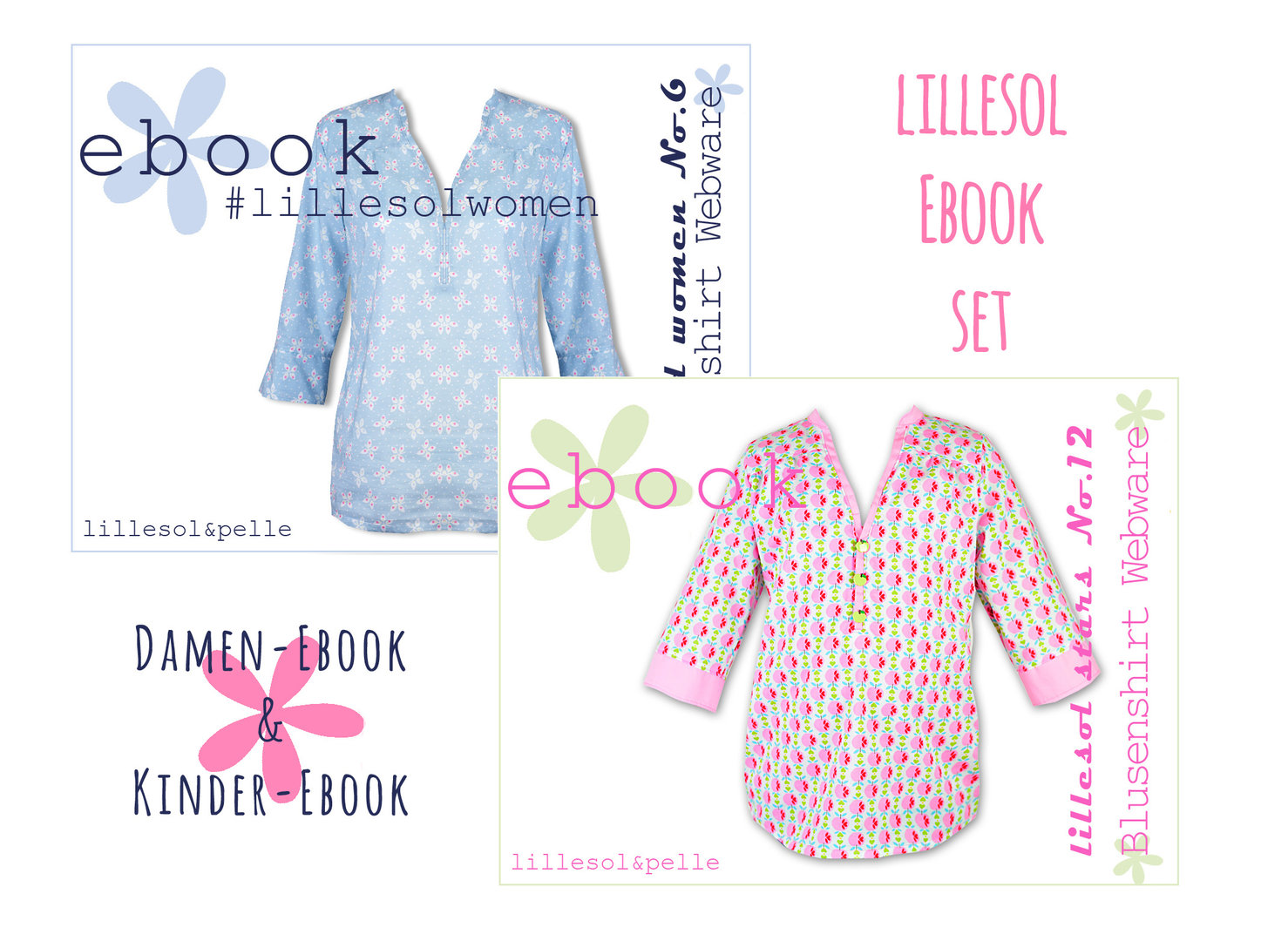 lillesol ebook set stars No.12 und women No.6 *mit Video-Nähanleitung*