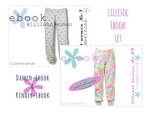 lillesol ebook set basic No.44 und women No.7 * mit Video-Nähanleitung*
