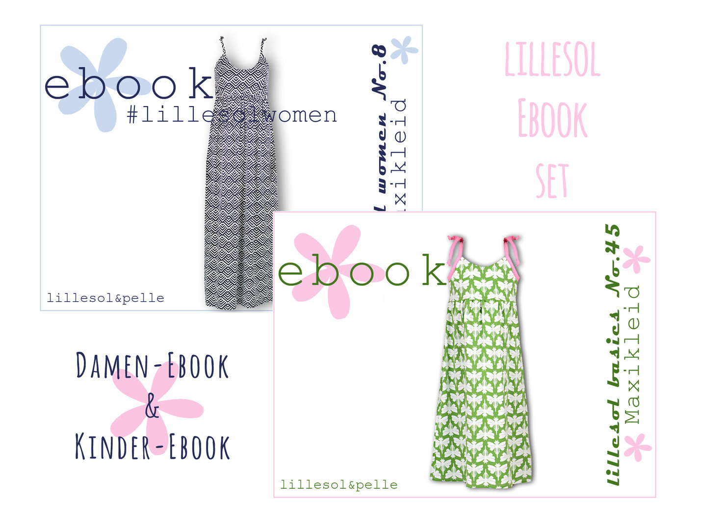 lillesol ebook set basics No.45 und women No.8 *mit Video-Nähanleitung*