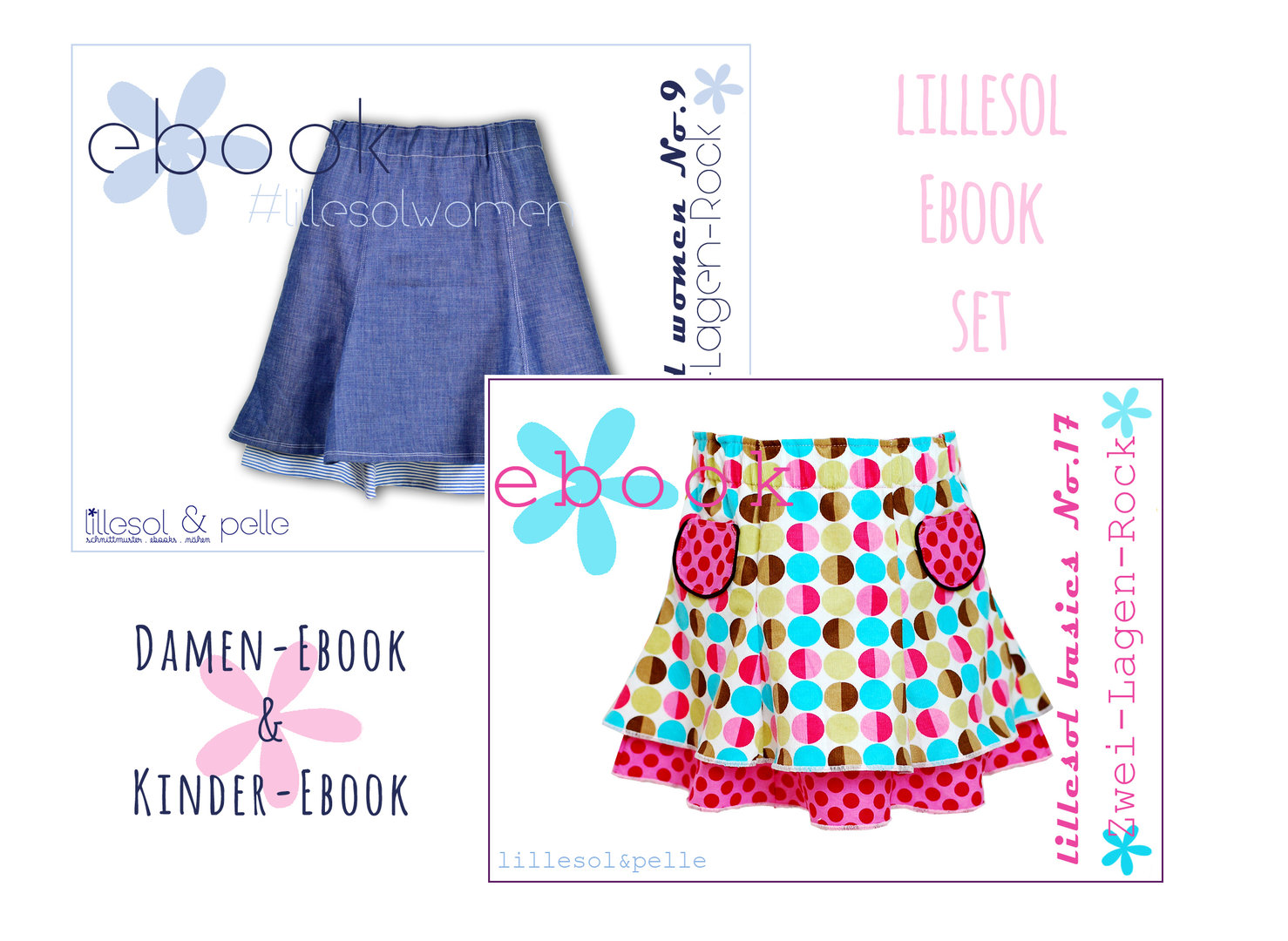 lillesol ebook set basic No.17 und women No.9 * mit Video-Nähanleitung *