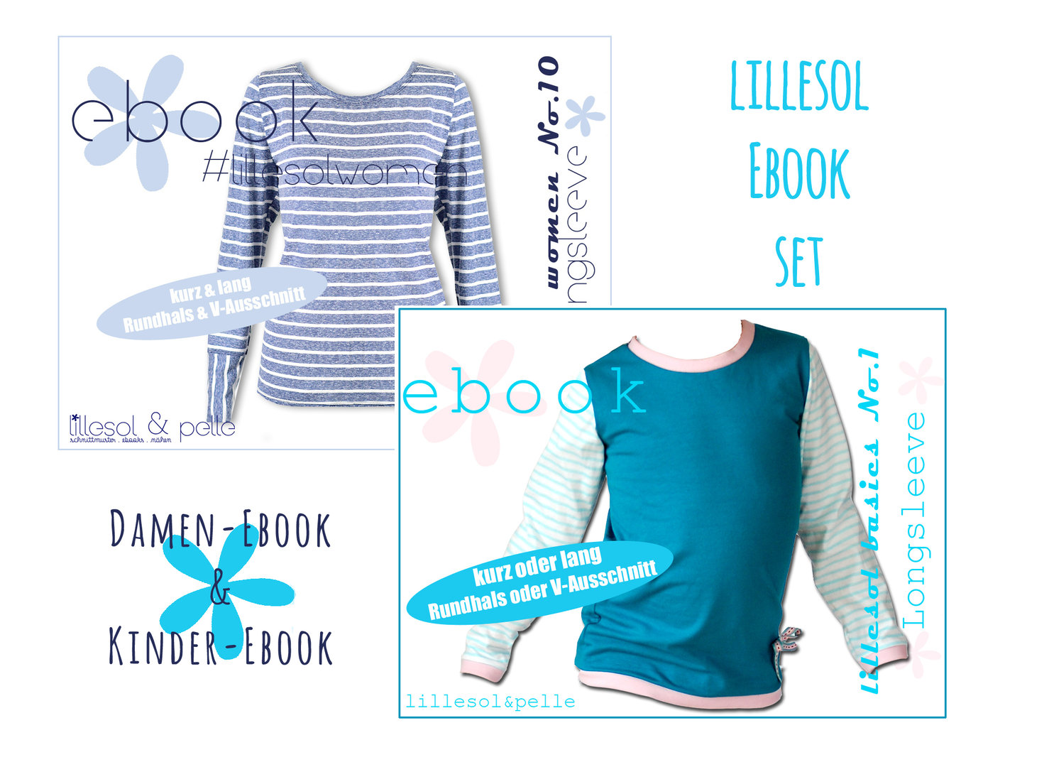 lillesol ebook set basic No.1 und women No.10 *mit Video-Nähanleitung*