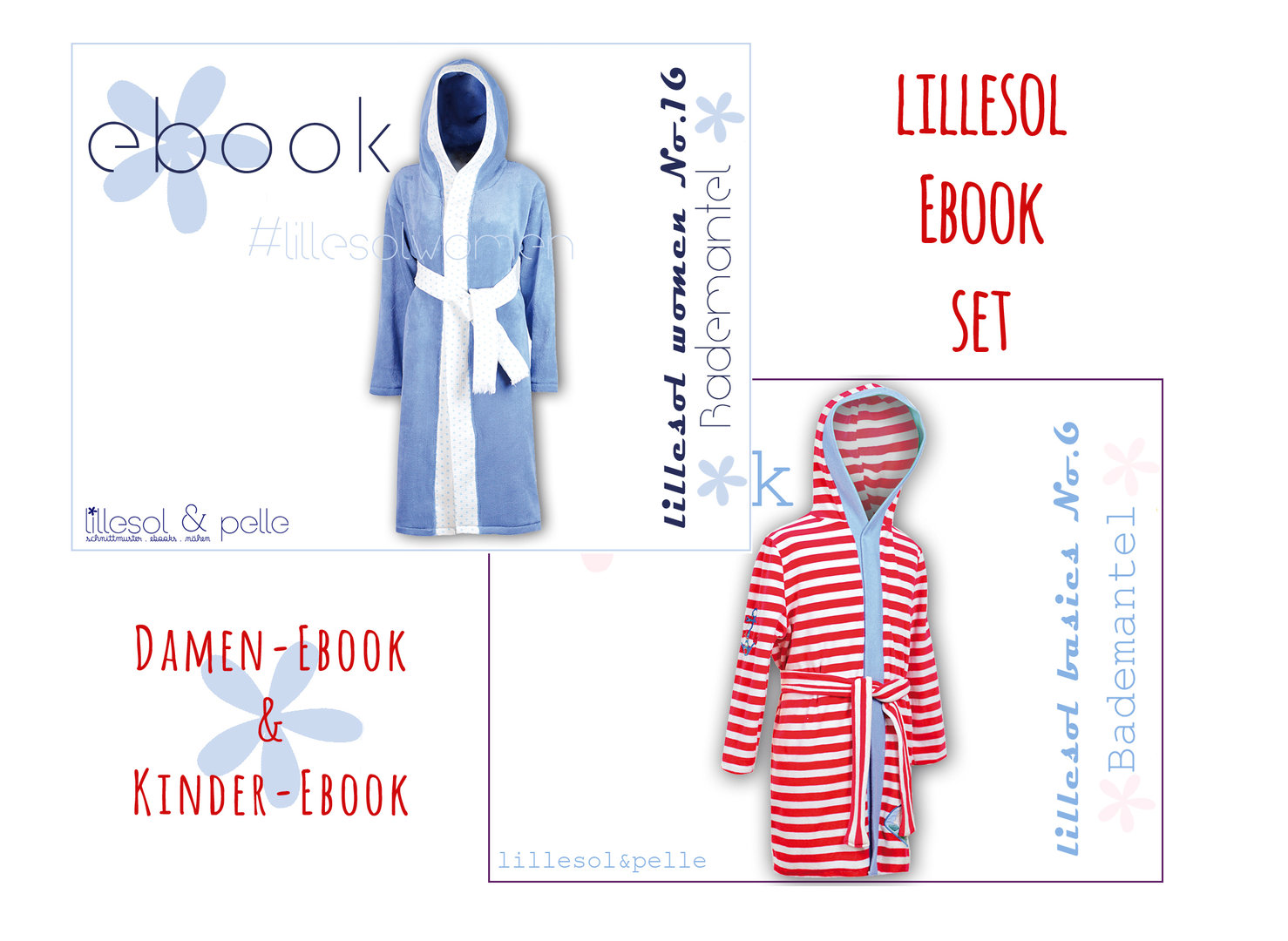 lillesol ebook set basic No.6 und women No.16 * mit Video-Nähanleitung *