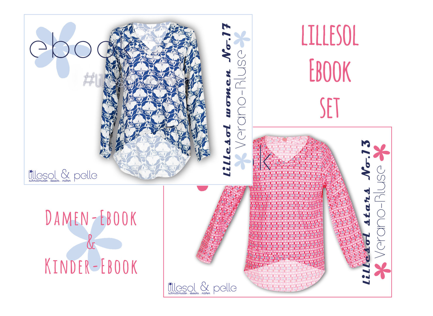 lillesol ebook set stars No.13 und women No.17 *mit Video-Nähanleitung*