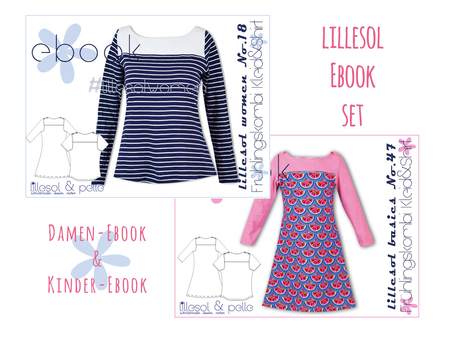 lillesol ebook set basics No.47 und women No.18 *mit Video-Nähanleitung*