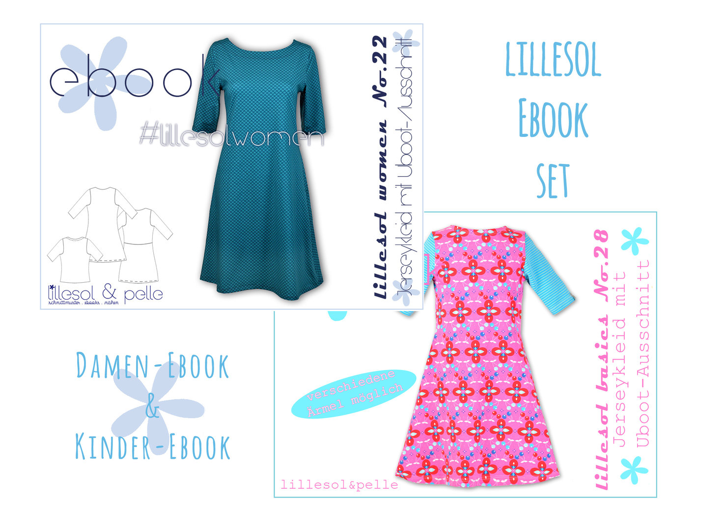 lillesol ebook set basics No.28 und women No.22 *mit Video-Nähanleitung*