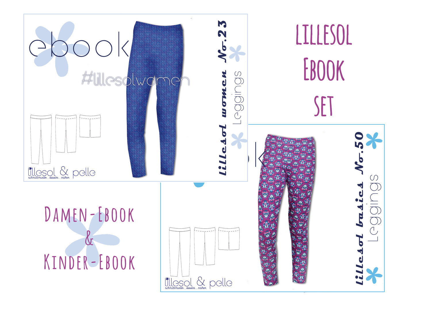 lillesol ebook set basics No.50 und women No.23 * mit Video-Nähanleitung *