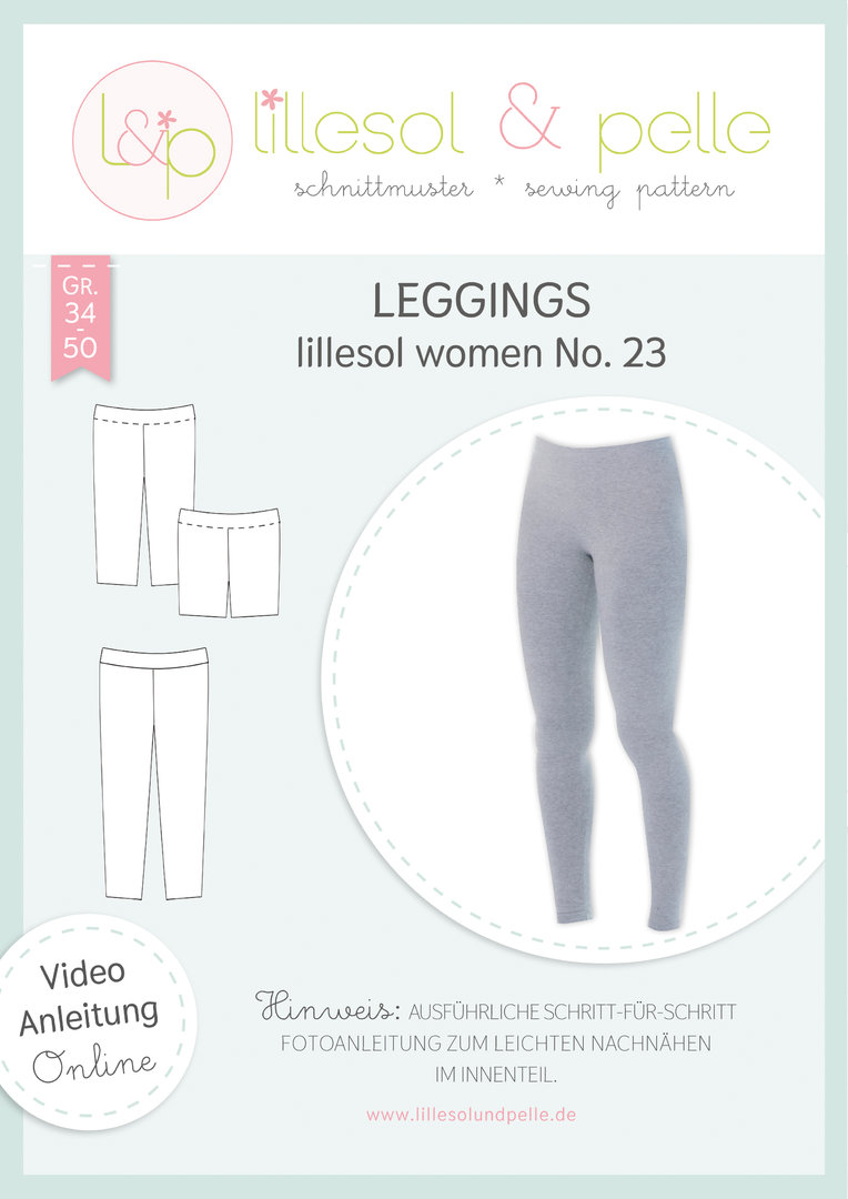 Papierschnittmuster lillesol women No.23 Leggings * mit Video-Nähanleitung *
