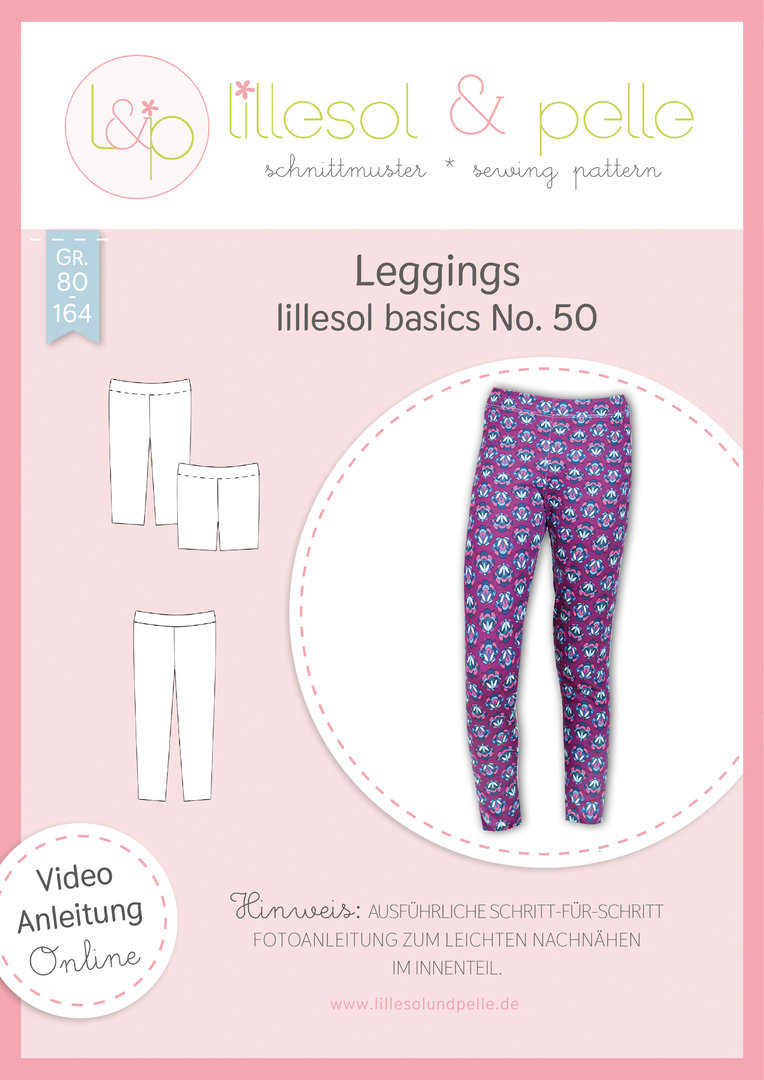 Papierschnittmuster lillesol basics No.50 Leggings * mit Video-Nähanleitung *