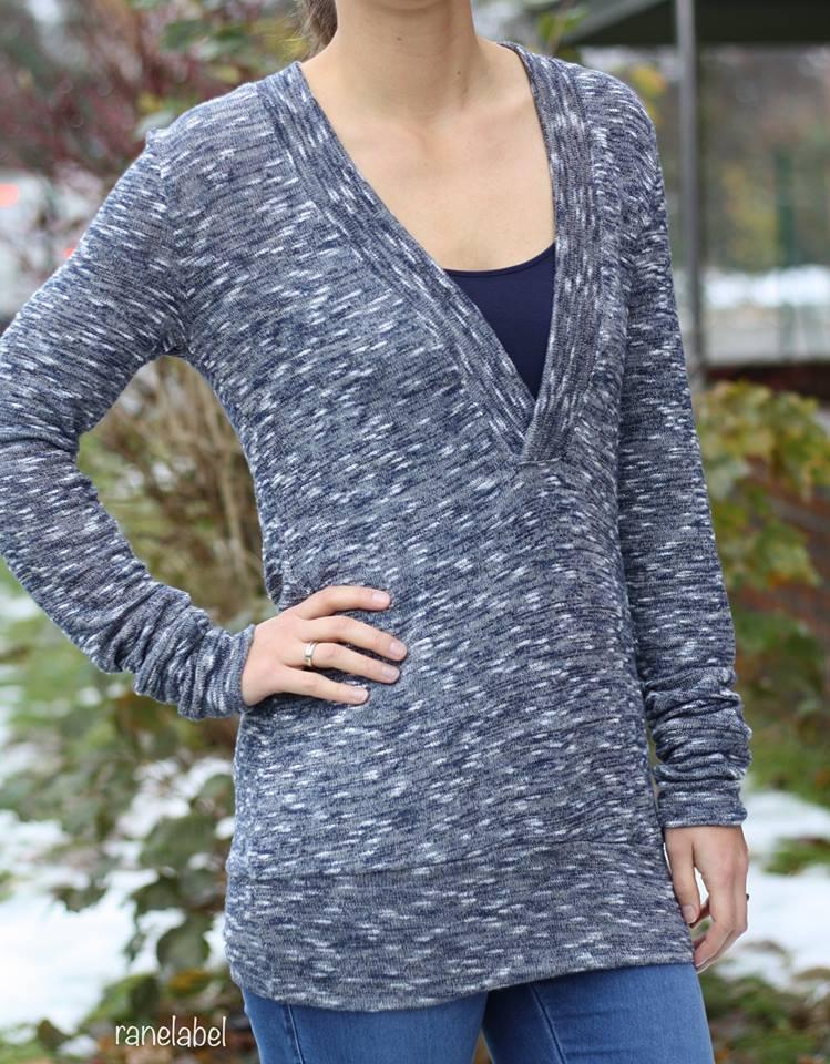 Ebook / Schnittmuster lillesol women No.24 Shirt mit V-Ausschnitt ...