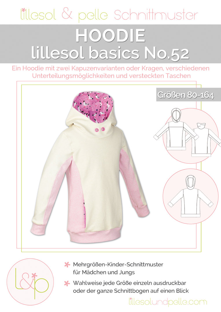 Ebook / Schnittmuster lillesol basics No.52 Hoodie - lillesol ...