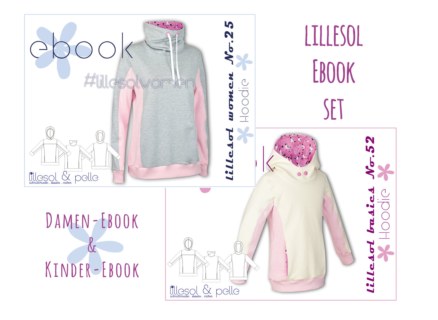 lillesol ebook set basics No.52 und women No.25 * mit Video-Nähanleitung *
