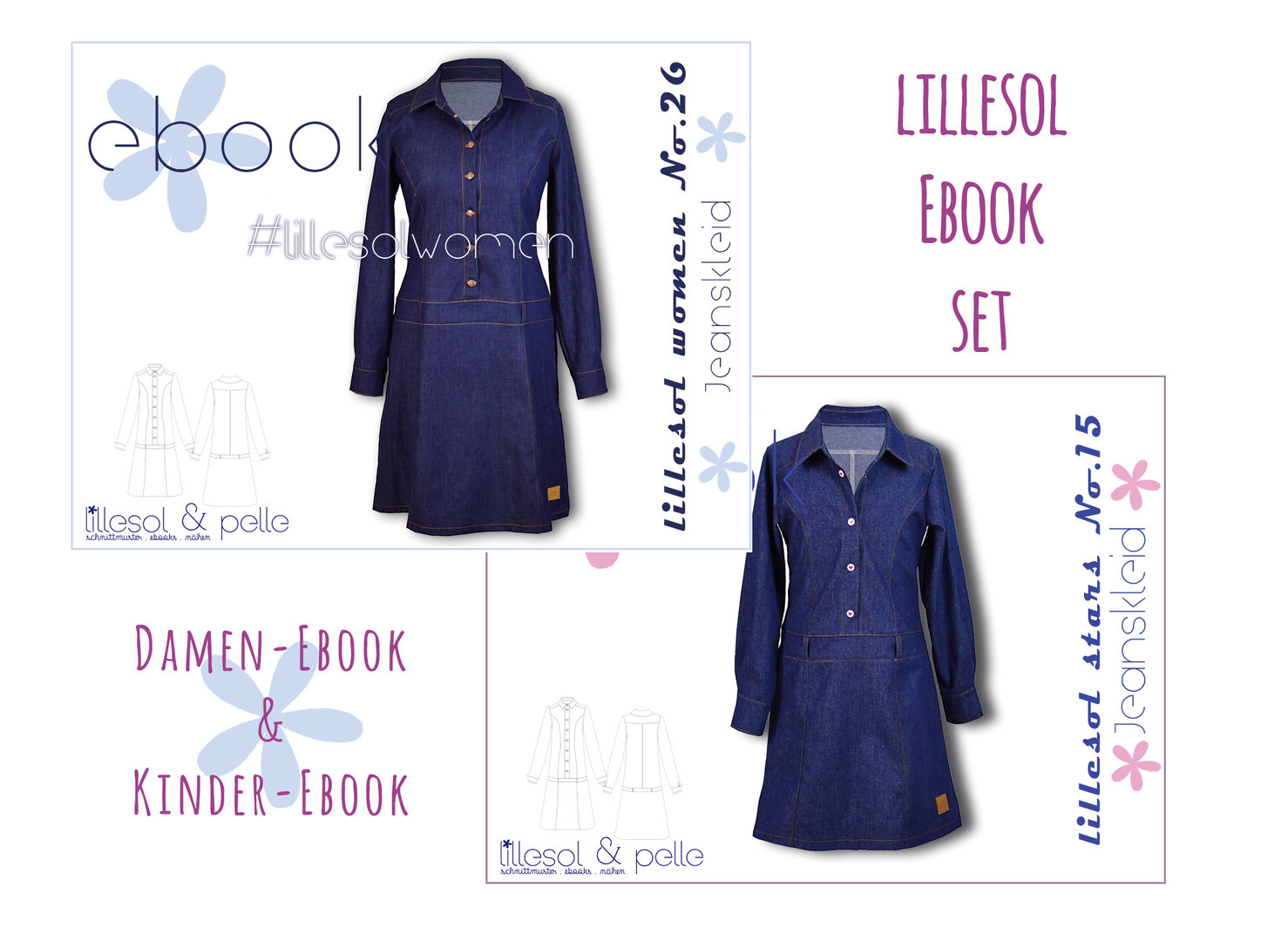 lillesol ebook set stars No. 15 und women No.26 *mit Video-Nähanleitung*