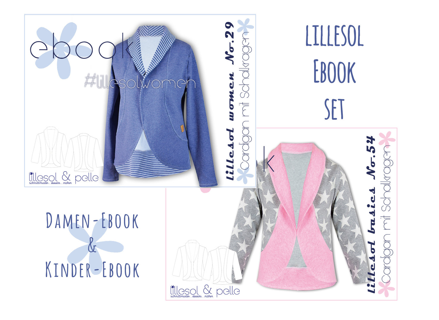 lillesol ebook set basics No.54 und women No.29 * mit Video-Nähanleitung *