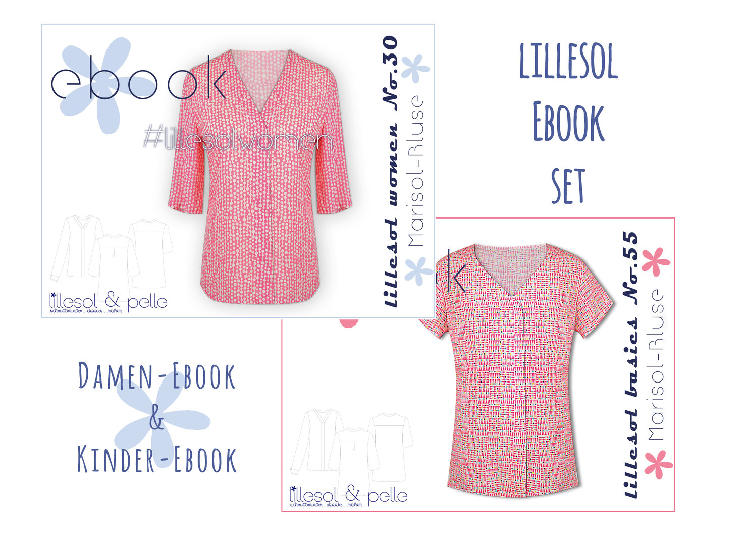 lillesol ebook set basics No.55 und women No.30  * mit Video-Nähanleitung *