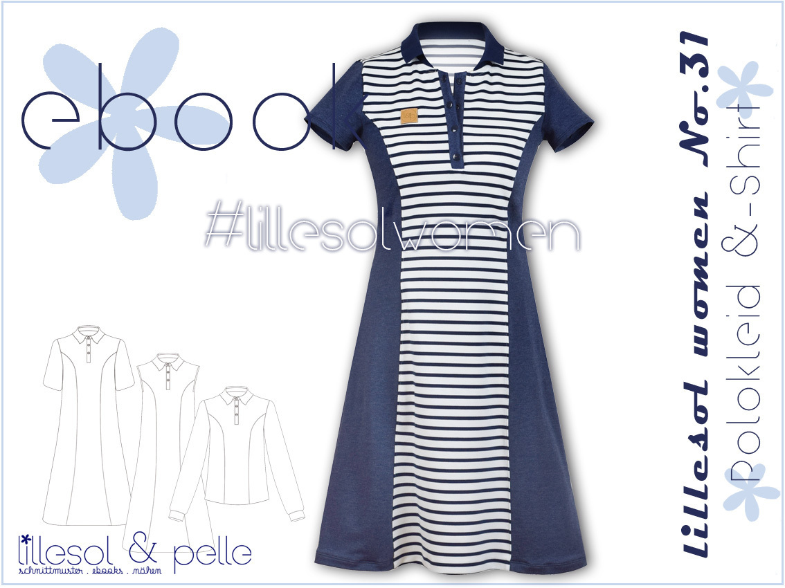 Ebook / Schnittmuster lillesol women No.31 Polokleid & -Shirt