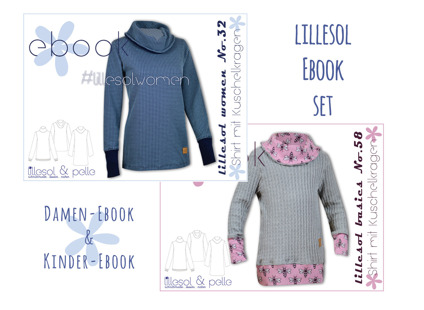 lillesol ebook set basics No.58 und women No.32 *mit Video-Nähanleitung*