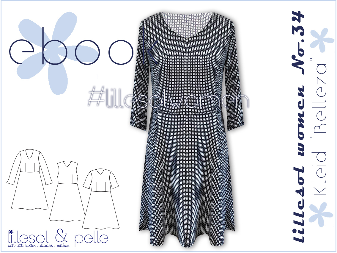 Ebook / Schnittmuster lillesol women No.34 Kleid Belleza