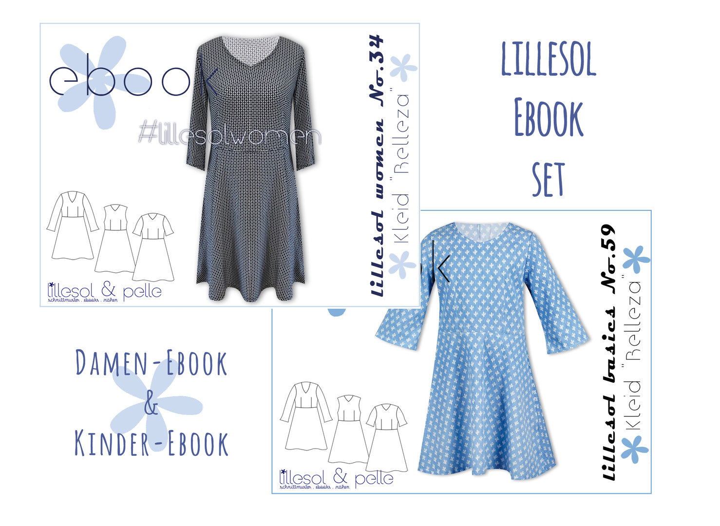 lillesol ebook set basics No.59 und women No.34 * mit Video-Nähanleitung *