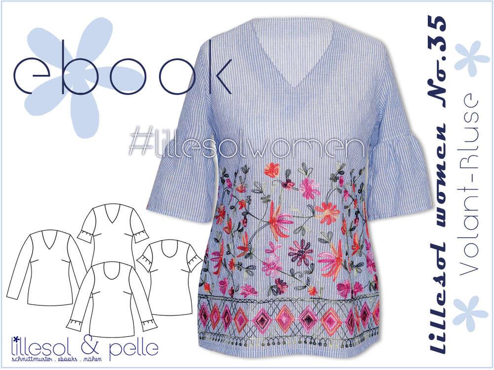 a9b3ee4b390b41 Ebook / Schnittmuster lillesol women No.35 Volant-Bluse - lillesol ...