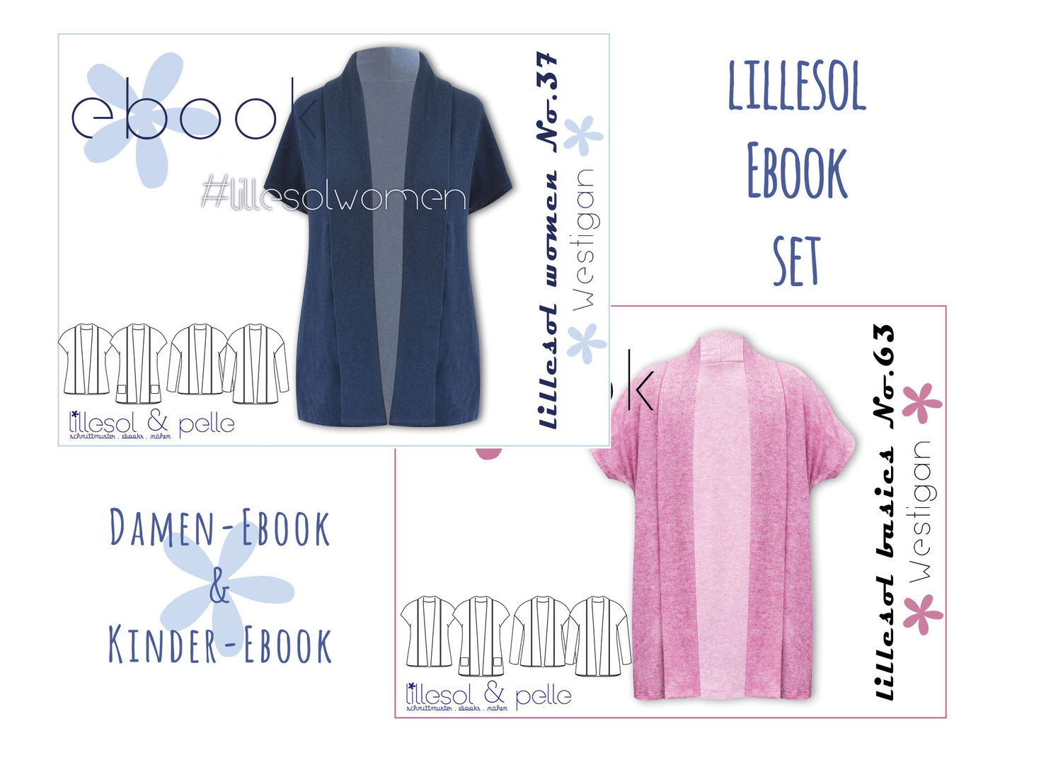 lillesol ebook set basics No.63 und women No.37 * mit Video-Nähanleitung *
