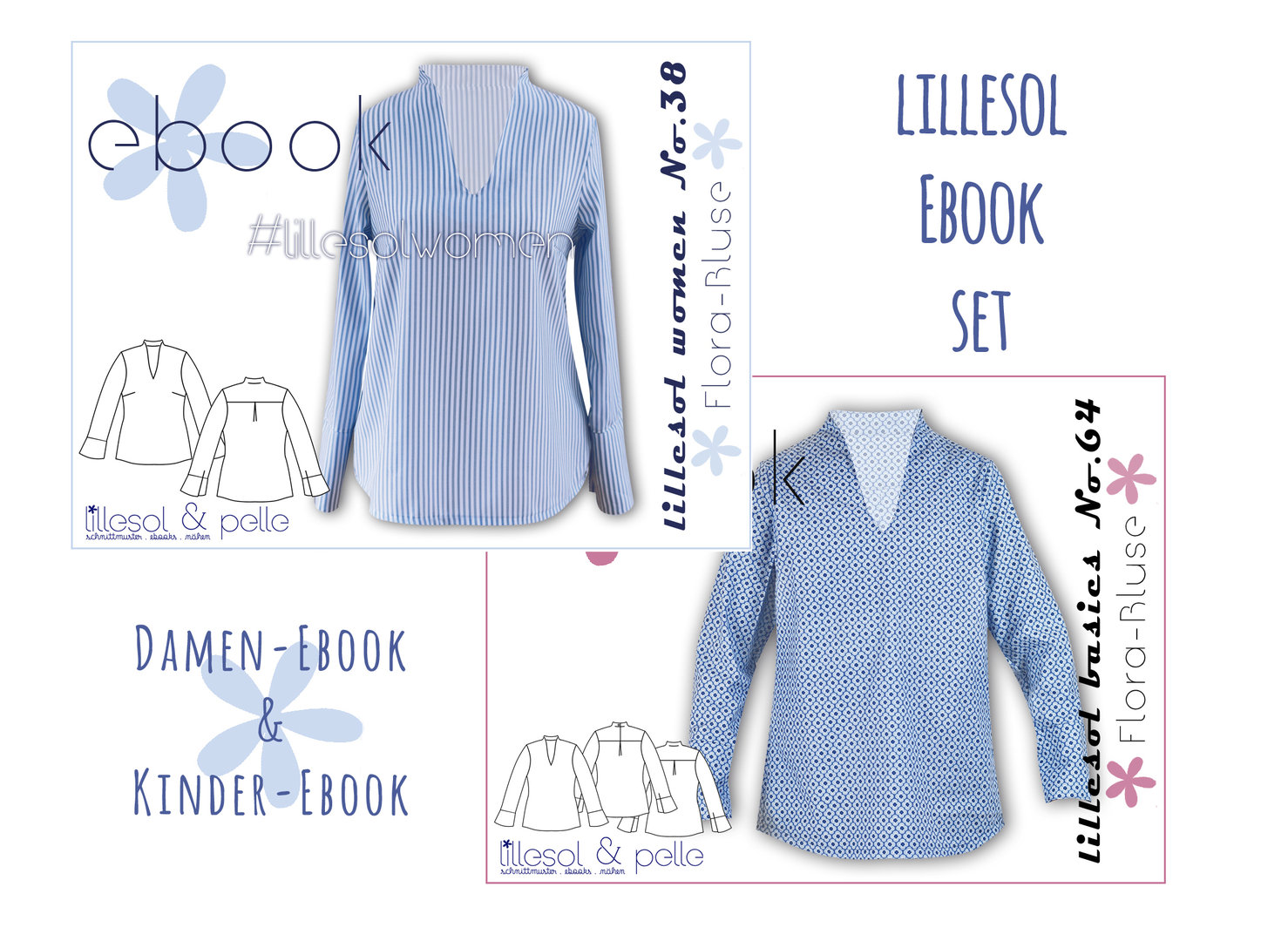 lillesol ebook set basics No.64 und women No.38 * mit Video-Nähanleitung *