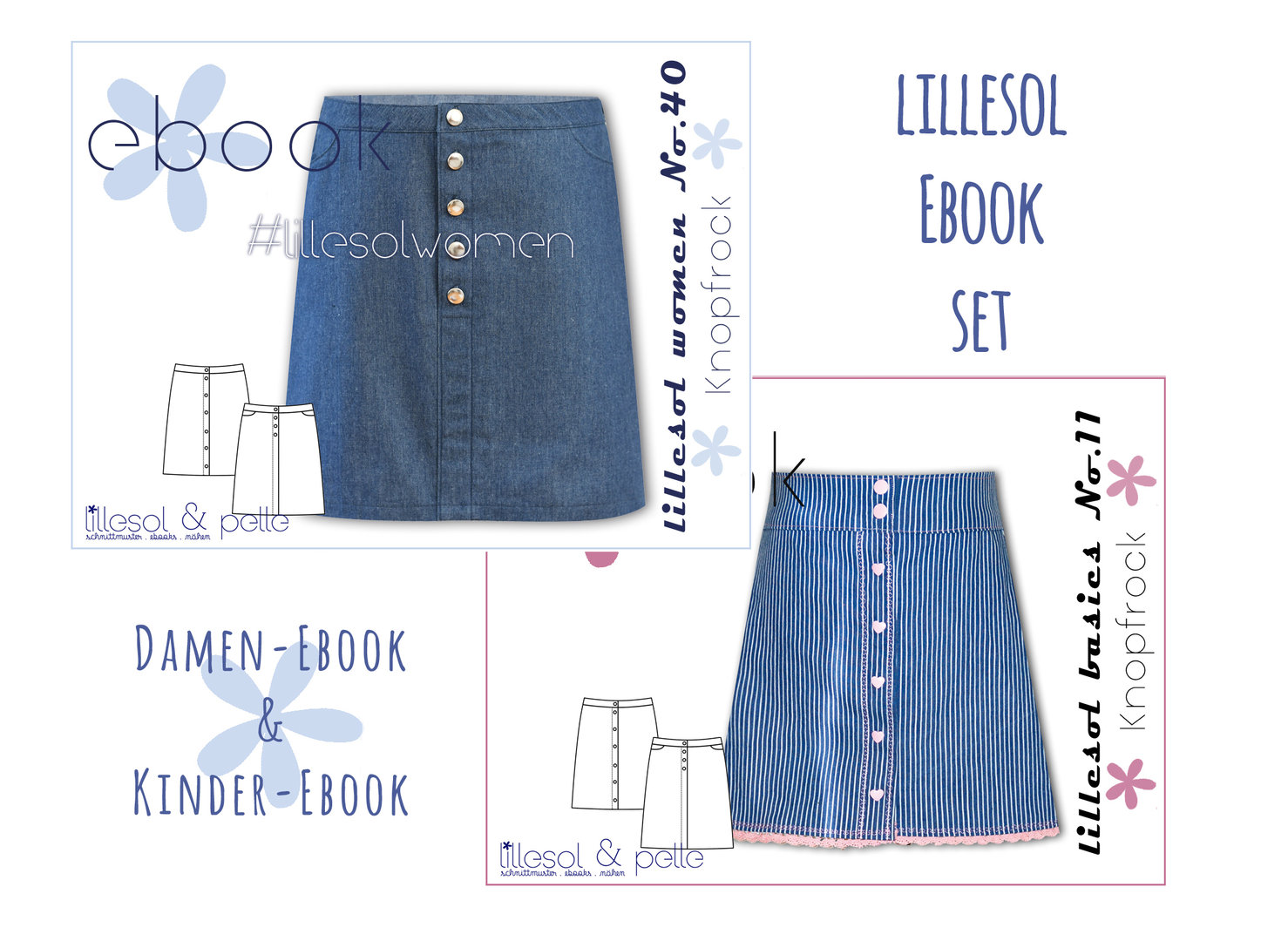 lillesol ebook set basics No.11 und women No.40 * mit Video-Nähanleitung *