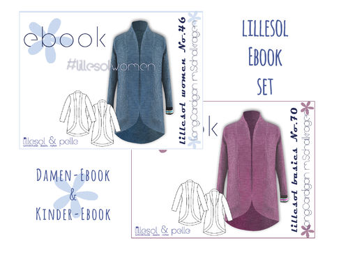 lillesol ebook set basics No.70 und women No.46 * mit Video-Nähanleitung *