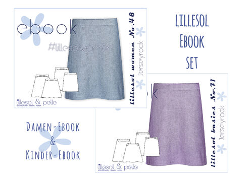 lillesol ebook set basics No.71 und women No.48 * mit Video-Nähanleitung *